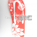 chanclas color coral xv años