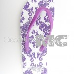 chanclas color lila